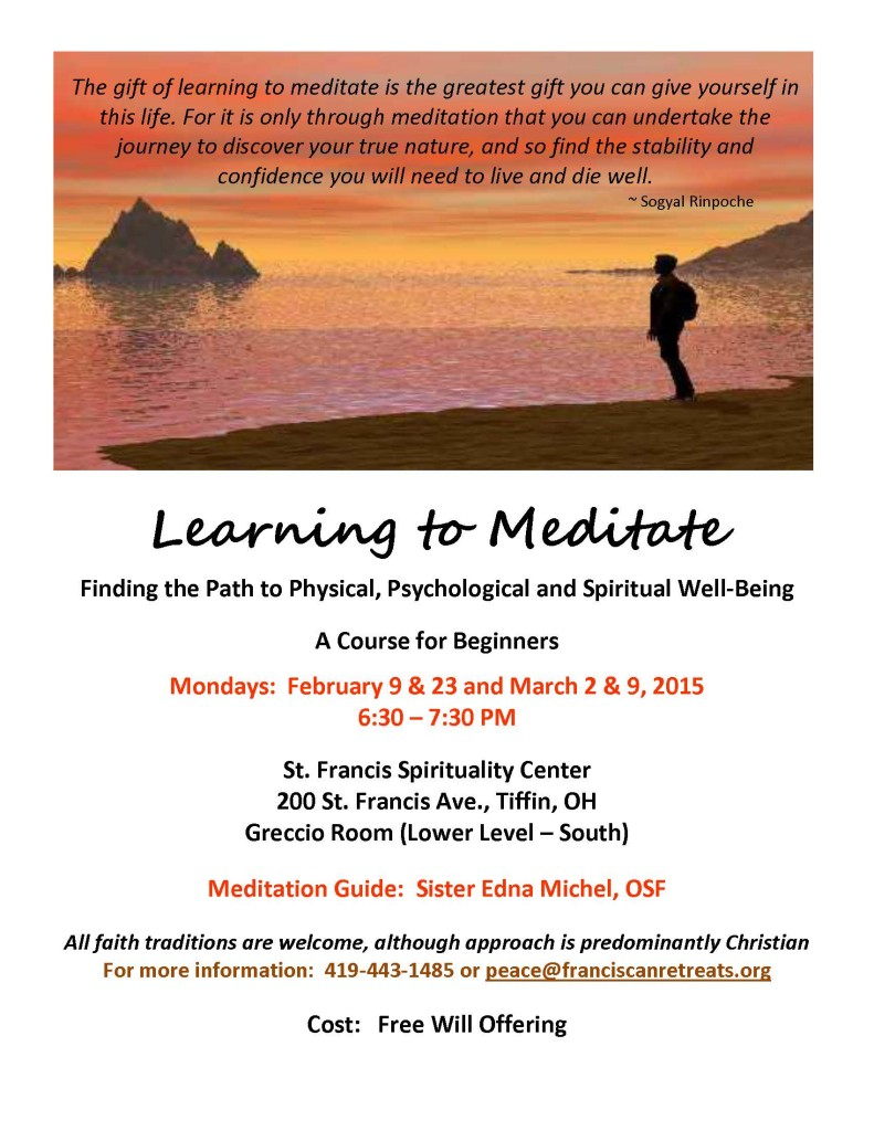 Learn to Meditate Flyer