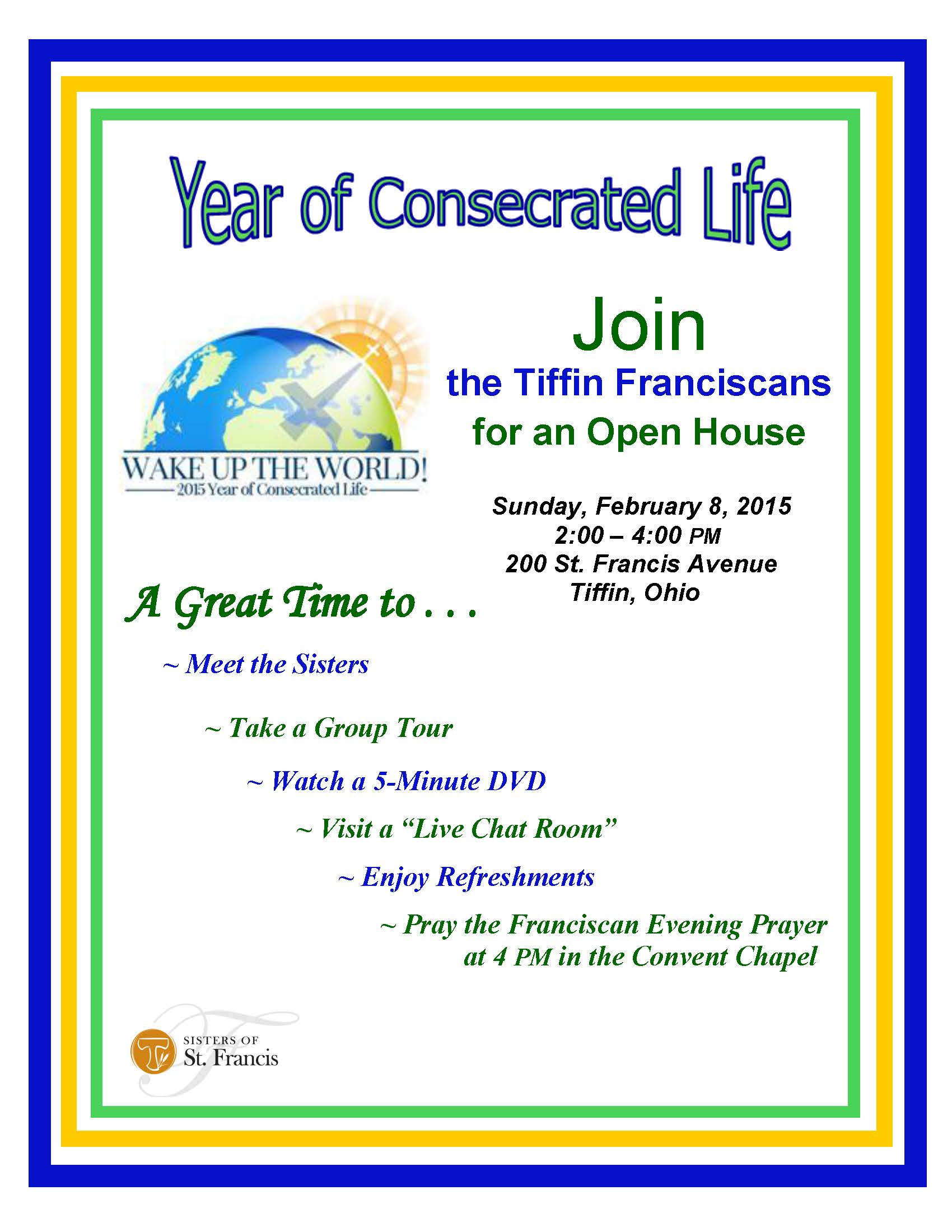 Year of Consecrated Life Invitation Final Flyer