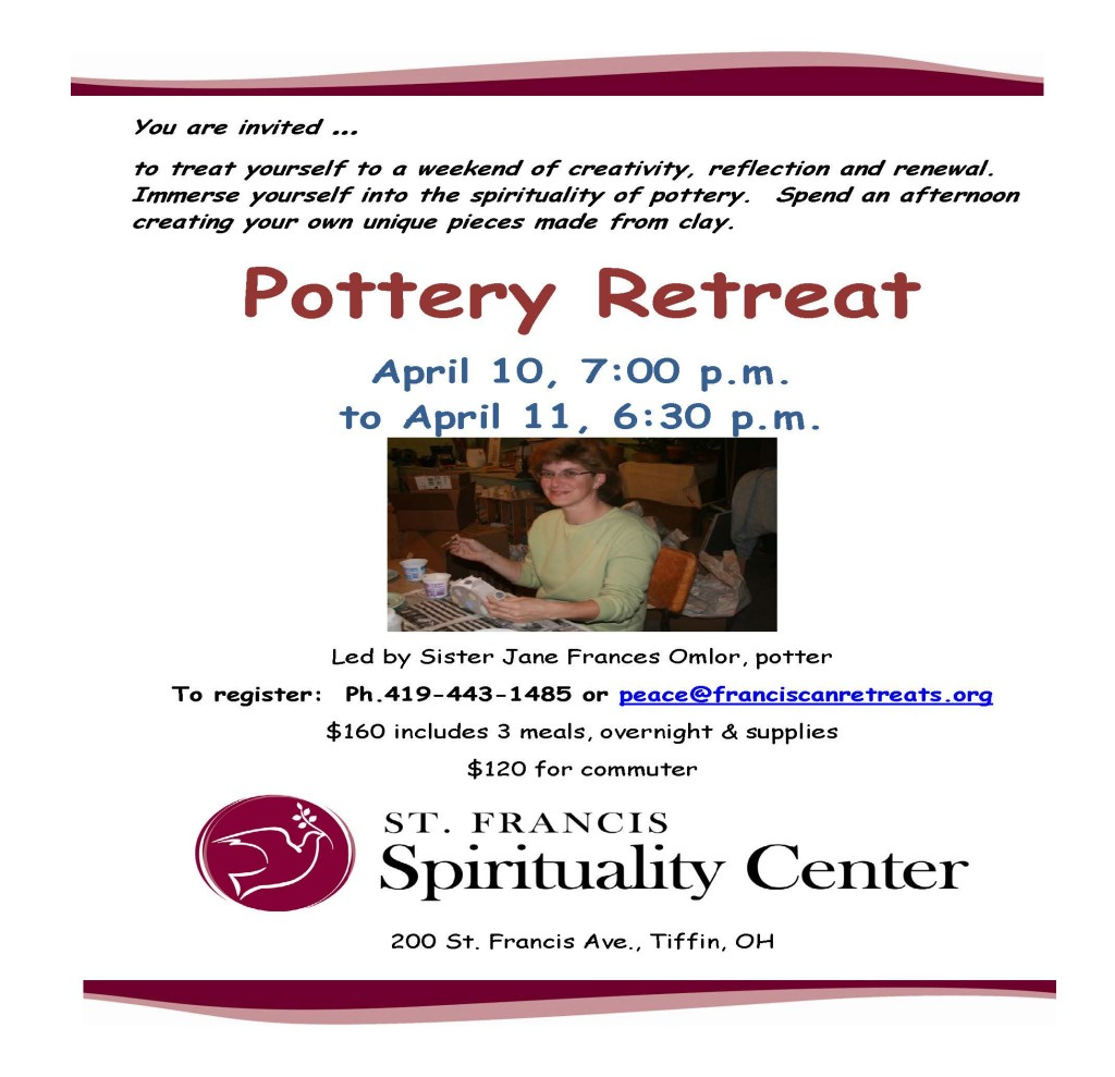 Pottery Retreat Flyer April 2015