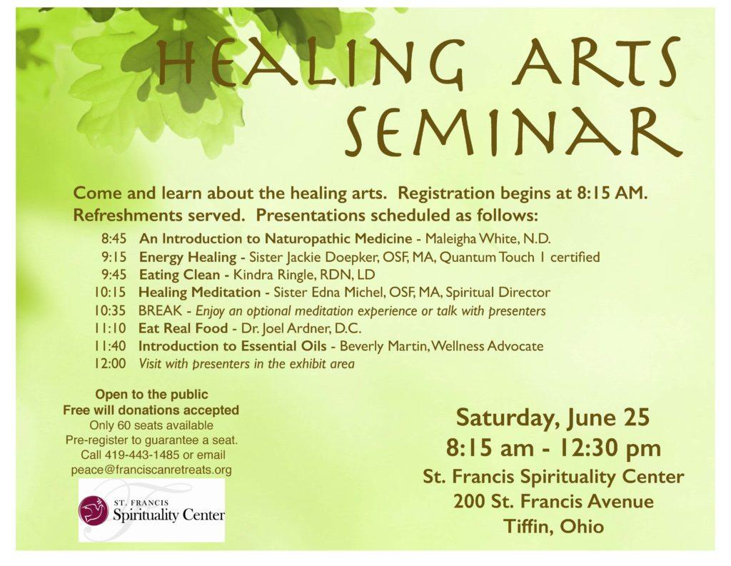 Healing Arts Seminar - June 25