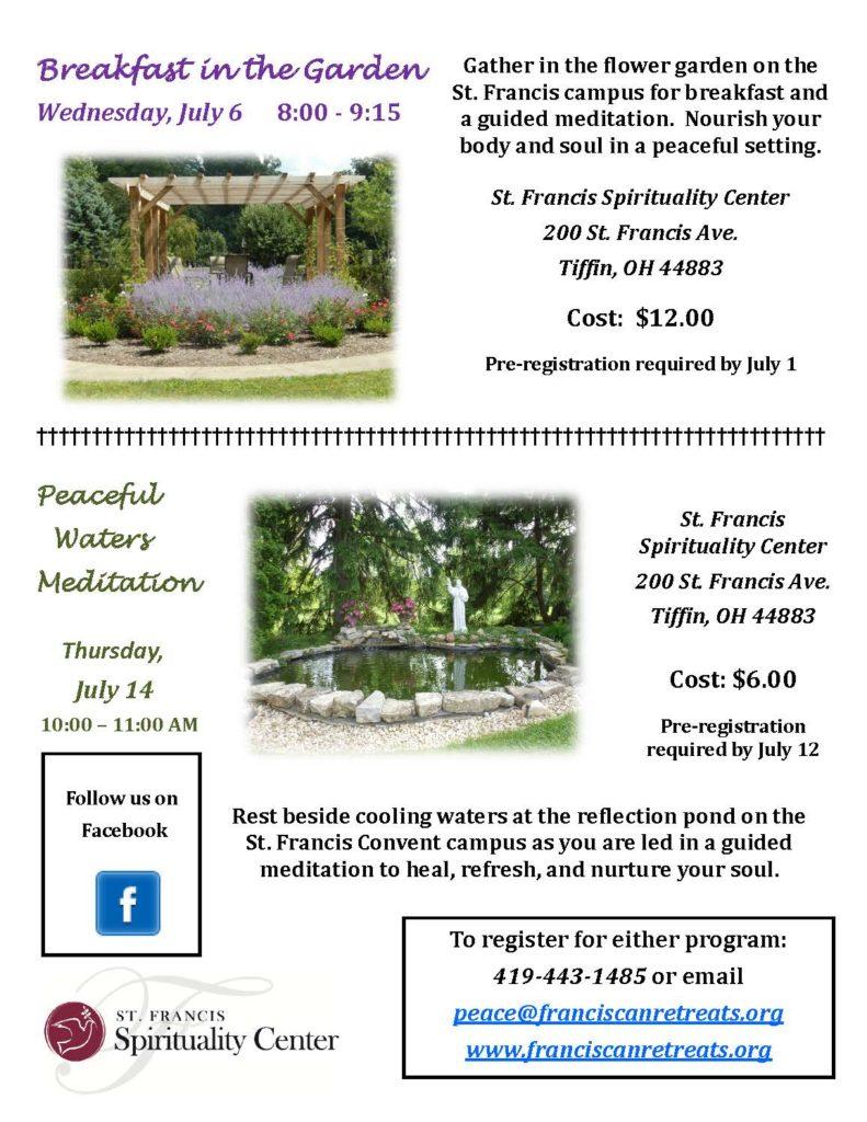 Breakfast in the Garden 6-01-16